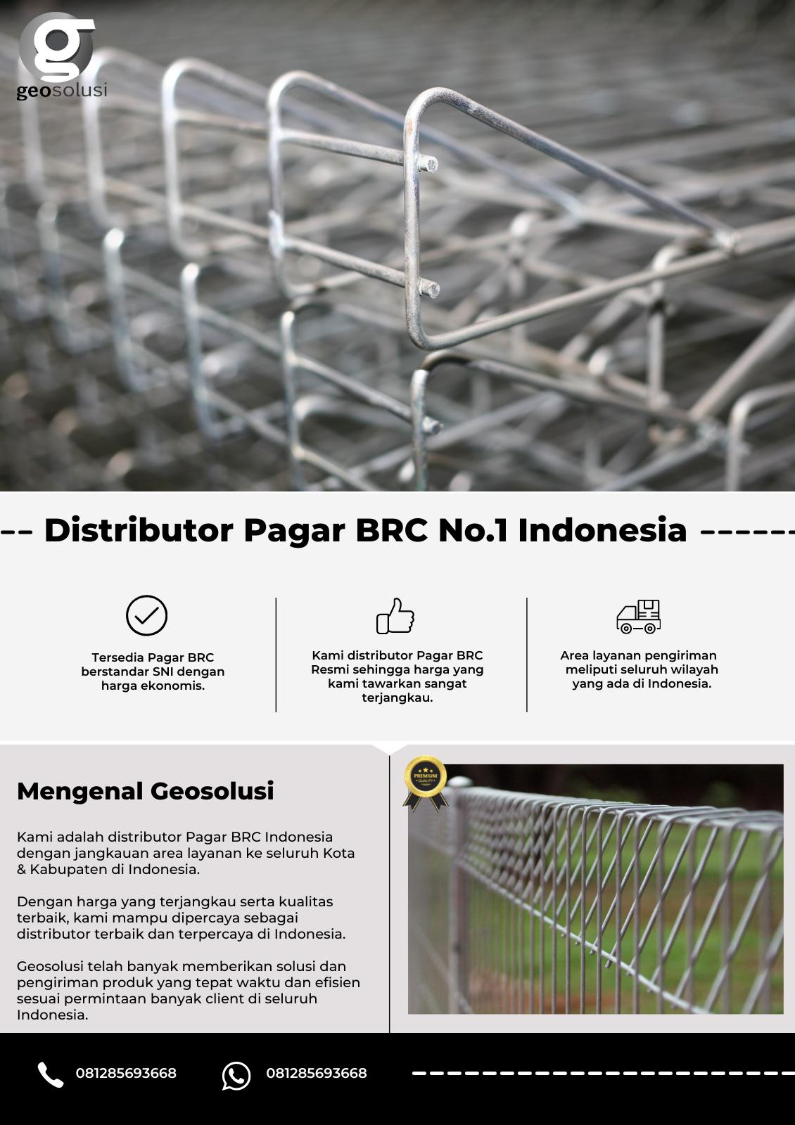 Distributor Pagar BRC No.1 Indonesia