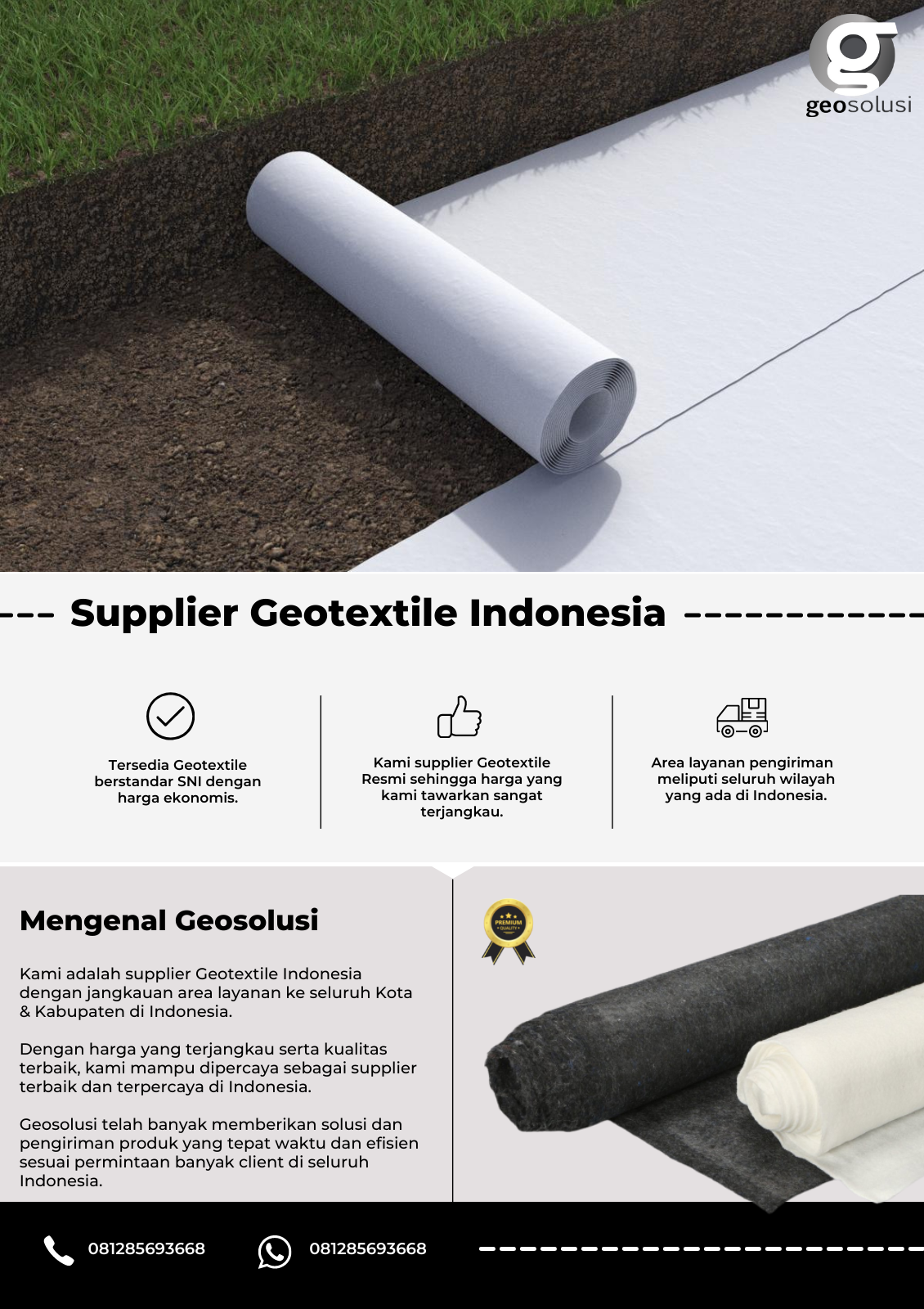 Supplier Geotextile Indonesia.
