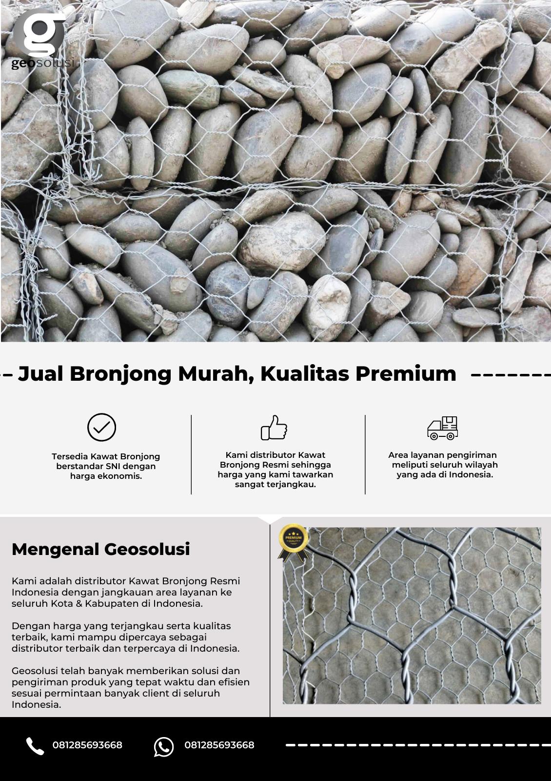 Jual Bronjong Murah, Kualitas Premium