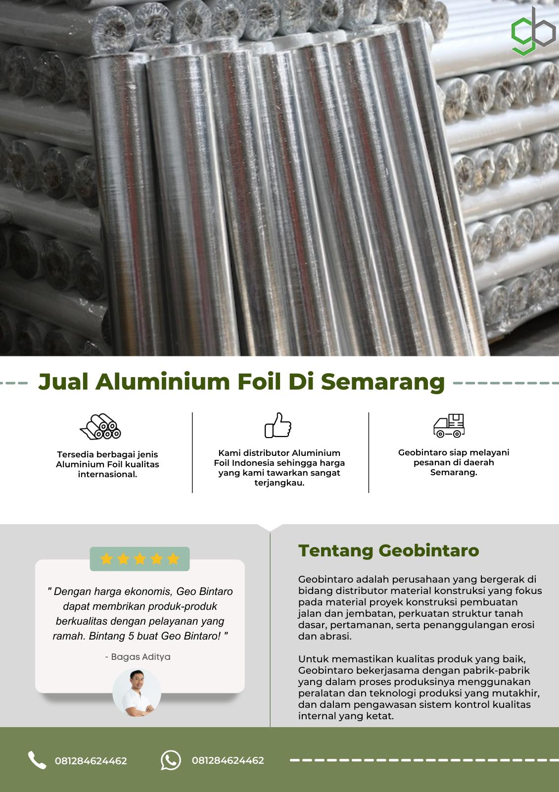 Jual Aluminium Foil Di Semarang