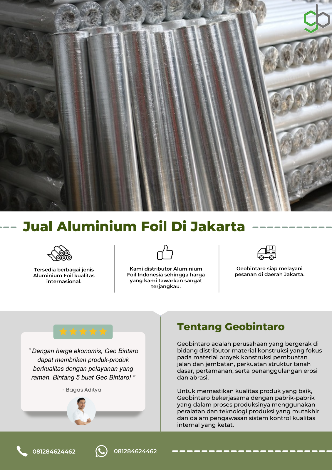 Jual Aluminium Foil Di Jakarta