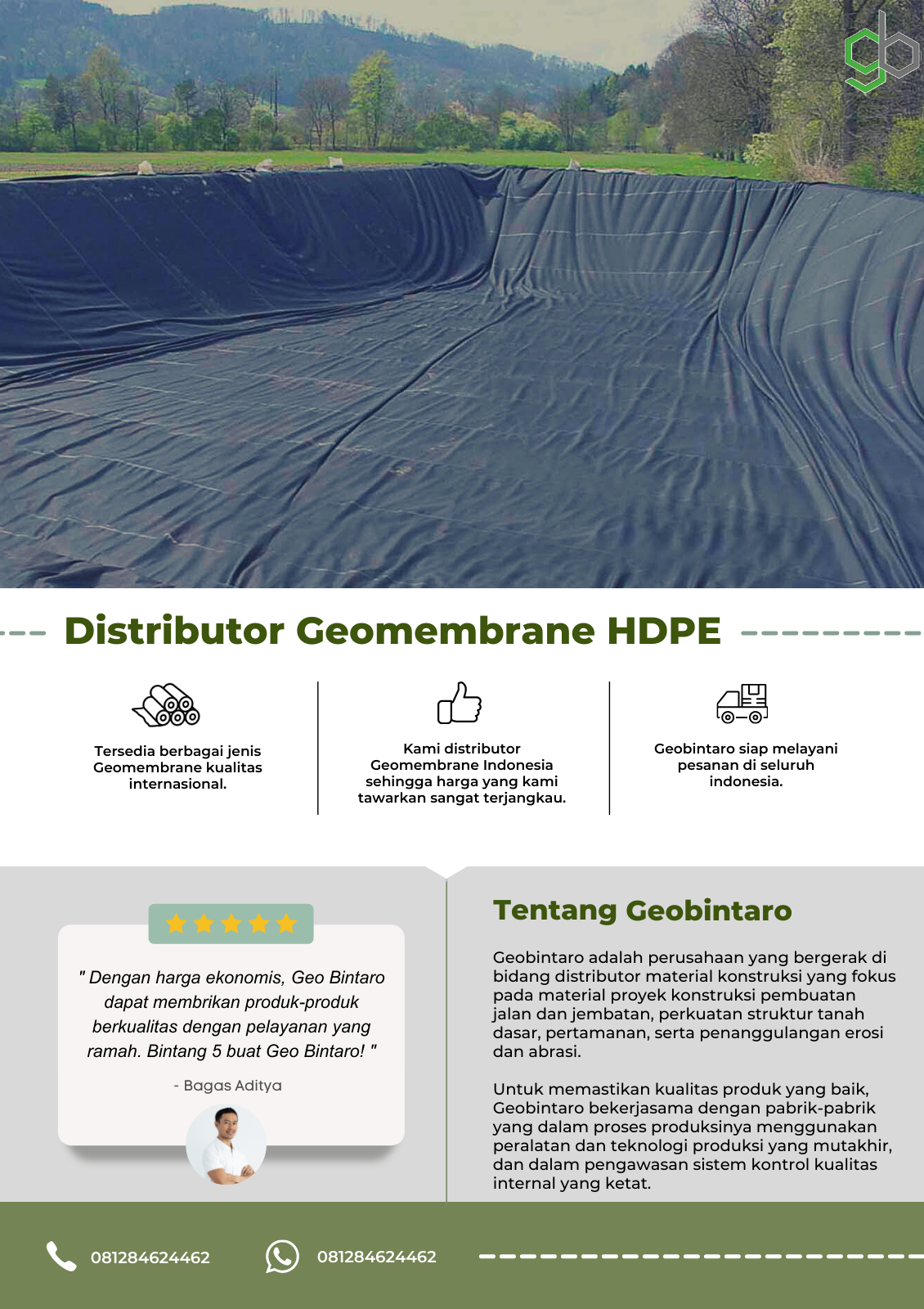Distributor Geomembrane HDPE