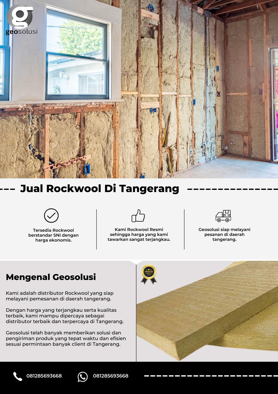 Jual Rockwool Tangerang, Distributor Indonesia